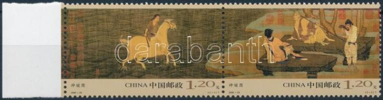 """""""The Heavenly Horse"""", Tang dynasty margin pair, """"A mennyei kanca"""", Tang-dinasztia ívszéli pár"""