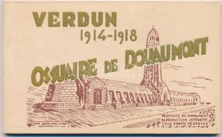 1914-1918 Verdun, Ossuaire de Douaumont / Ossuary of Douaumont - WWI military postcard booklet with 10 postcards