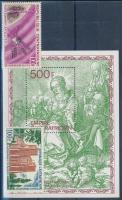 1964-1979 2 klf önálló érték + 1 blokk, 1964-1979 2 diff stamps + 1 block