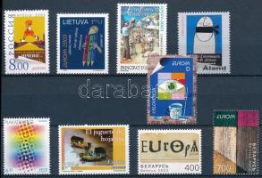 Europa CEPT 7 diff. stamps + 1 set, Europa CEPT 7 klf önálló éték + 1 sor