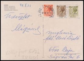 1978 Mészáros József (1923-1997) FTC labdarúgó és edző saját kézzel írt képeslapja