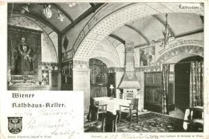 Vienna, Wien; Wiener Rathaus-Keller, Rathsstube / restaurant interior (tear)
