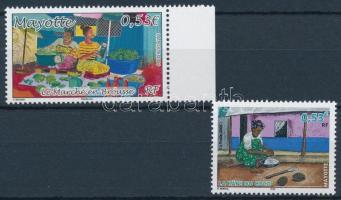 2 stamps, 1 with margin 2 klf érték