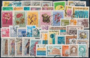 1973-1974 48 diff stamps, 1973-1974 48 klf bélyeg, közte sorok