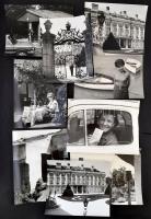 cca 1970 Budapest és Magyarország 16 db nagyméretű jól komponált, igényes fotó, hidak, műemlékek, életképek, 30x24 cm
