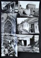 cca 1970 Budapest 15 db nagyméretű jól komponált, igényes fotó, hidak, műemlékek, életképek, 30x24 cm