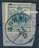 1850 9kr nagy lemezhibával ,,AGRAM
