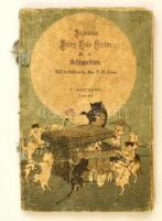 T. H. James: Schippeitaro. Japanese Fairy Tale Series No. 17. Tokyo, é.n., T. Hasegawa, 13 sztl. lev. (borítókkal együtt, kettős lapok.) Gyönyörű színes fametszetes illusztrációkkal, krepp-papír lapokkal, angol nyelven. Kiadói színes, illusztrált fűzött papírkötés, a borító kopott, kissé foltos, sérült, a gerince hiányos, a 2. lap sérült, szakadt./  T. H. James: Schippeitaro. Japanese Fairy Tale Series No. 17. Tokyo, T. Hasegawa. With beautiful colorful woodblock illustrations. Crepe paper-binding, with worn, and damaged cover, the spine incompleted, the second sheet damaged, in English language. Thirteen pages of folded creped paper for a total of 26 pages (front and back cover included in the count).