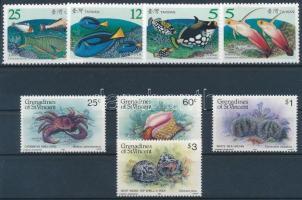 1965-2007 Animals: sea animals 2 sets + 3 block + 1 FDC, 1965-2007 Állat: tengeri élőlények 2 sor + 3  blokk + 1 FDC