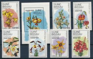 Flower set + block, Virág sor + blokk