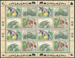 Endangered species minisheet, Veszélyeztetett fajok kisív