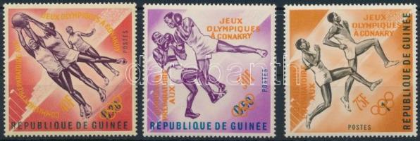 Pre-Olympic Games set with orange overprint, Előolimpiai sportjátékok sor narancssárga felülnyomással