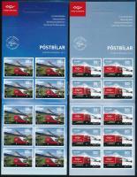 Europa CEPT Postal vehicles self-adhesive stamp-booklet pair, Europa CEPT Postai járművek öntatadós bélyegfüzet pár