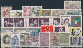 1972 29 klf bélyeg + kisív, a teljes évfolyam kiadásai