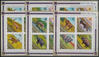 African fauna perforated and imperforated blockset, Afrikai állatvilág fogazott és vágott blokksor
