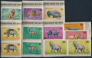 African animals imperforated set in pairs, Afrikai állatvilág vágott sor párokban