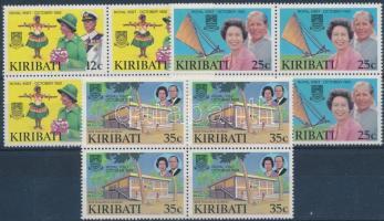 1982 A királyi pár látogatása sor négyestömbökben Mi 412-414