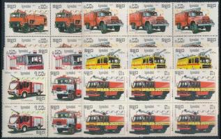 Fire engines blocks of 6, Tűzoltóautók sor hatostömbökben