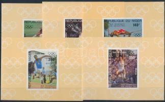 Summer Olympics: Los Angeles imperforated set in blockform, Nyári olimpia: Los Angeles vágott sor blokkformában