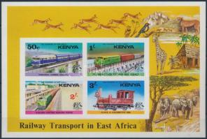 Railway Transport in East Africa imperforated block, Vasúti közlekedés Kelet-Afrikában vágott blokk