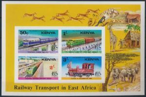 Rail transport in East Africa imperforated block, Vasúti közlekedés Kelet-Afrikában vágott blokk