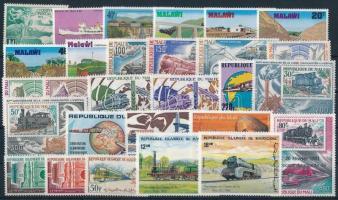 Train motif 1949-1986 5 diff sets + 16 diff stamps, Vonat motívum 1949-1986 5 klf sor + 16 klf önálló érték
