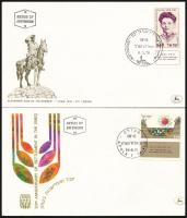 9 FDC's, 1970-1978 9 klf tabos FDC