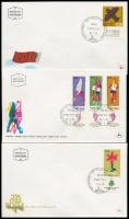 8 different FDC's, 1970-1978 8 klf tabos FDC