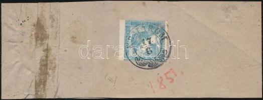 "Newspaper stamp on complete wrapper, geripptes papier  ""KOMÁROM"", Hírlapbélyeg címszalagon  ""KOMÁROM"""