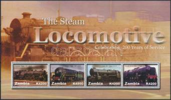 Steam locomotive minisheet, Mozdony kisív