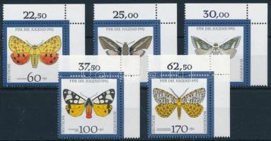 Youth: Endangered butterflies corner set, Ifjúság: Veszélyeztetett lepkék ívsarki sor