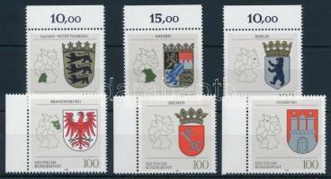 Provincial Coats of Arms margin set, Tartományi címerek ívszéli sor