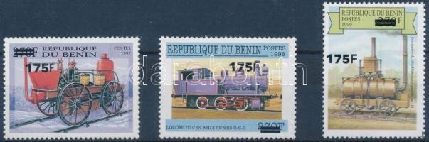 2000 Forgalmi sor 3 felülnyomott mozdony motívum értéke Mi 1299+1390+1302