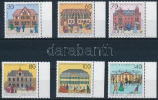 Post office buildings set, Posta épületek sor