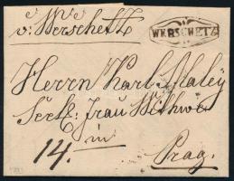 1833 Portós levél / Unpaid cover WERSCHETZ - Prag