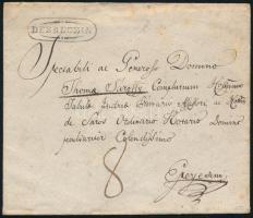 1835 Portós levél / Unpaid cover DEBRECZIN - Eperjes