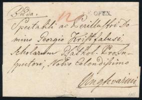 1828 Portós levél / Unpaid cover F.OFEN - Unghvarini