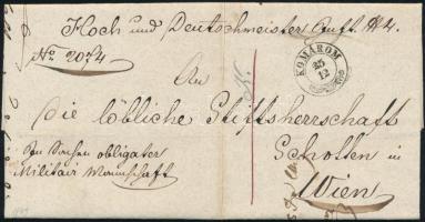 1849 Levél / Cover KOMÁROM - Wien