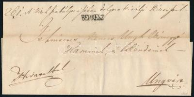 1841 Hivatalos levél / Official cover BERKESZ - Ungvár