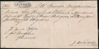 1837 Hivatalos levél / Official cover v.EPERIES - KOMARNIK