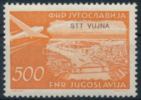 Air mail stamp with overprint, Légiposta bélyeg felülnyomással