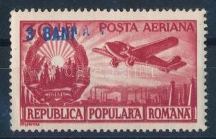 Overprinted aeroplane stamp, Felülnyomott repülő érték