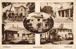 Balatonlelle, vasútállomás, Magyar Tenger penzió, Hullám penzió, Család penzió
