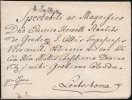 1793 Levél / Cover V.Kaschau