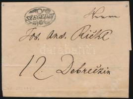 1837 Levél / Cover SZEGEDIN