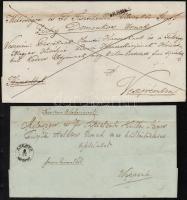 1845-1848 2 db levél különféle SZEMES bélyegzéssel / 2 covers with different SZEMES postmark