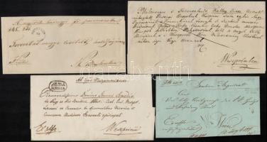 1841-1849 4 db levél / 4 covers SÜMEGH, ALBA/REGIA, SZEGEDIN, SEMLIN