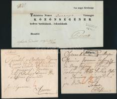 1781-1848 3 db levél / 3 covers SABARIA