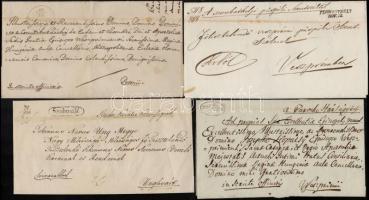 1837-1848 4 db levél / 4 covers Szoboszló, SZOMBATHELY, SZIGETHVÁR, GR. SZIGETH