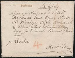 1818 Portós levél / Unpaid cover S.A.Ujhely